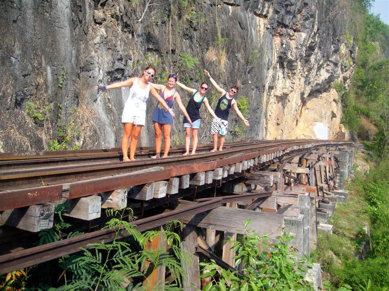 High on the railway in Kanchanaburi created by slave labor.