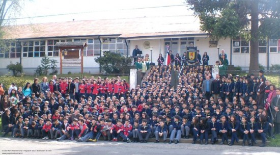 Dave with his school in Chile. He took this opportunity. Will you?