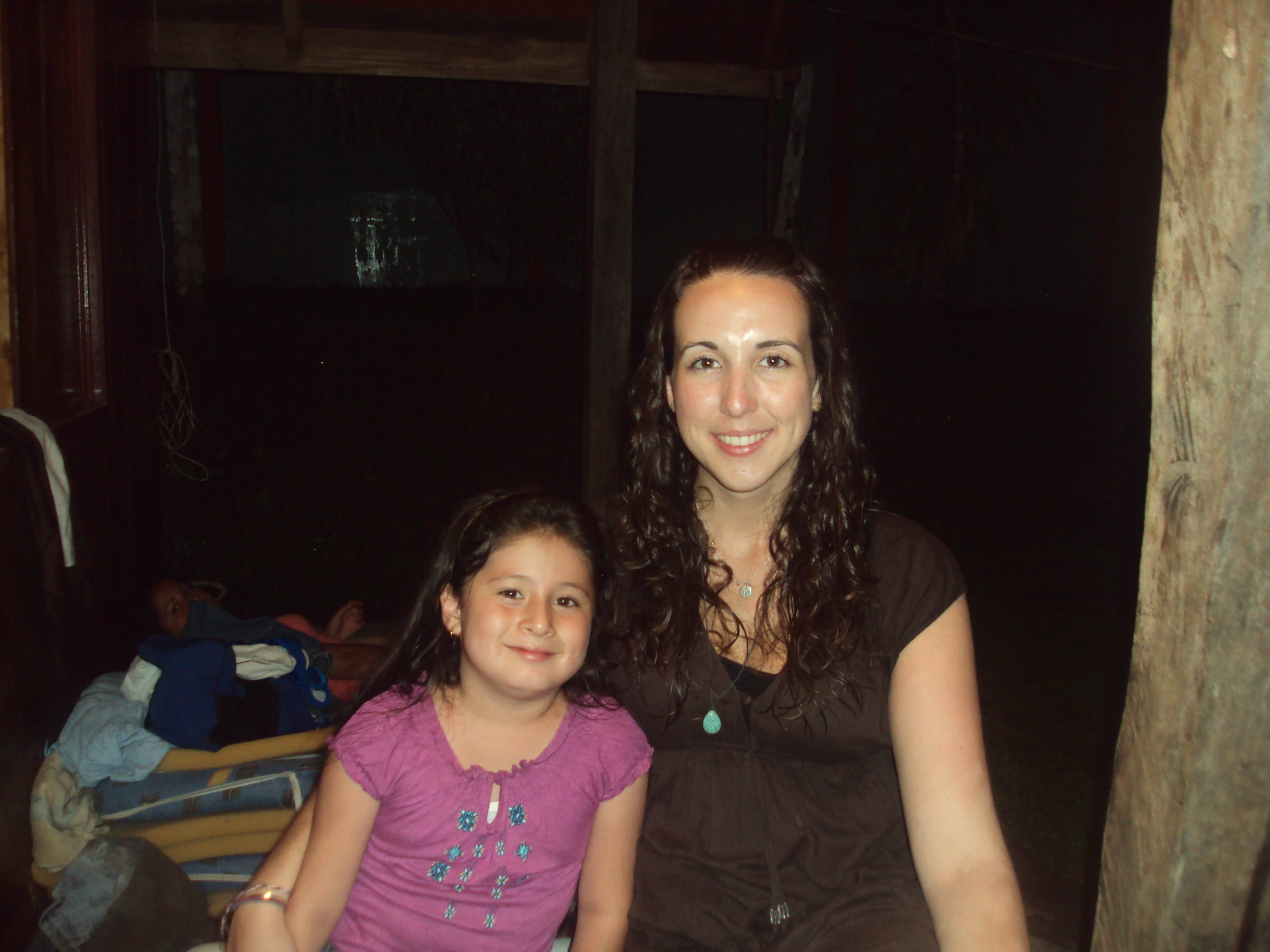 Erin and her host sister, Carolina, on vacation.