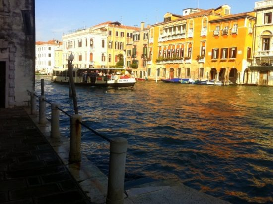 How romantic the sun looks, glinting on the canals of Venice!