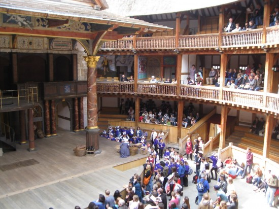 The famous Globe Theater in London.
