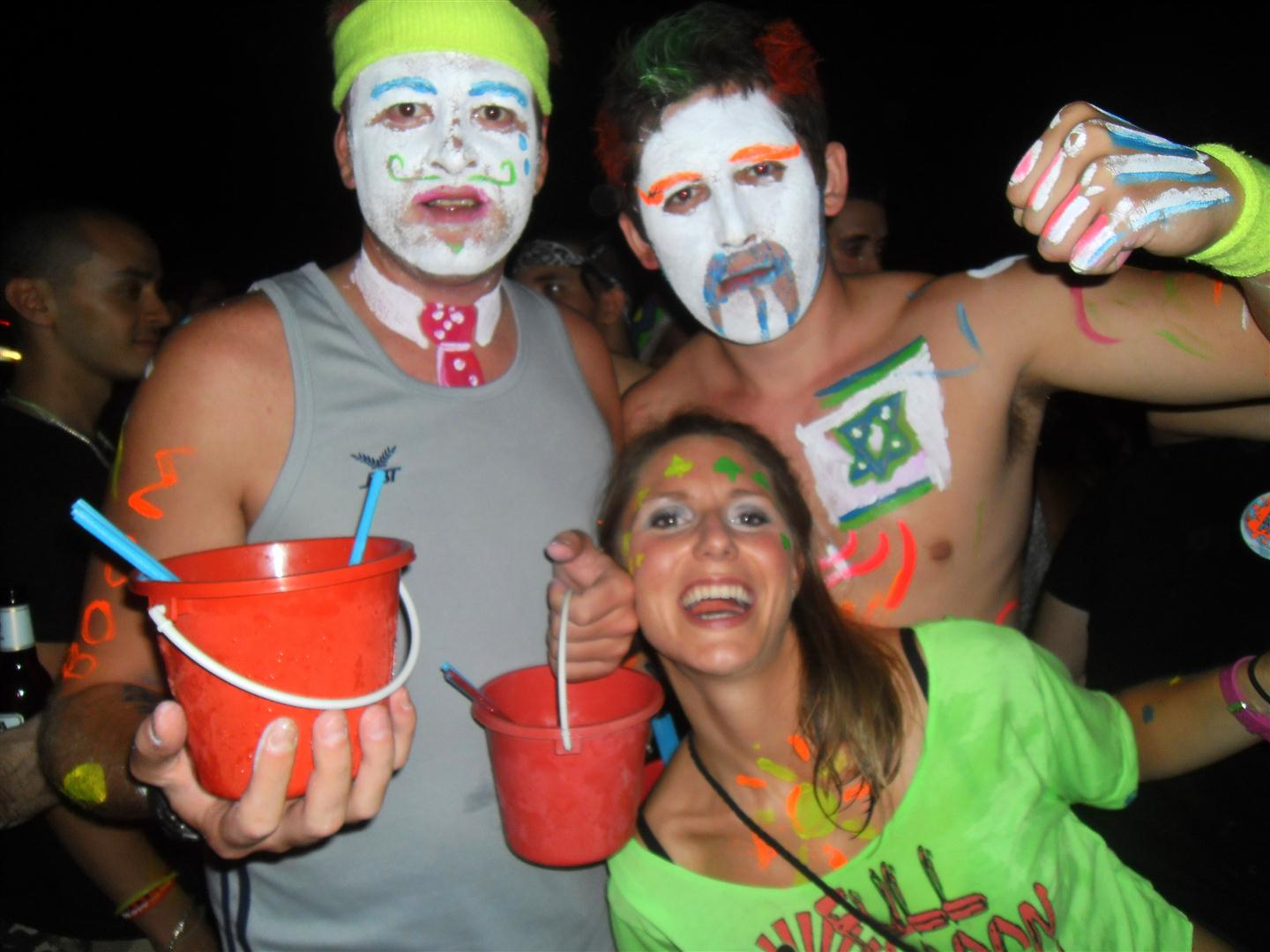 At the wild Full Moon Party in Thailand!