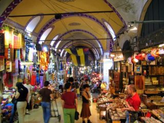 The Grand Bazaar in Istanbul, Turkey: One of many places Eliane traveled.