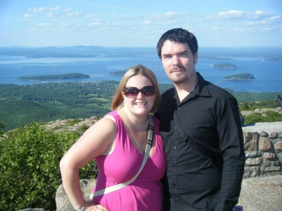 Lindsay and Mike in Bar Harbor, Maine, 2011.