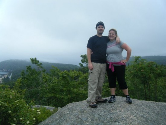Mike and Lindsay atop Cadillac Mountain, Maine in 2011.