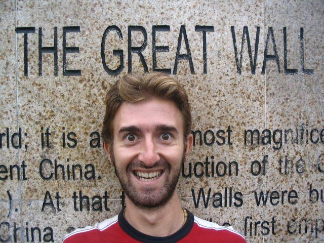 Delighted to be at the Great Wall of China!