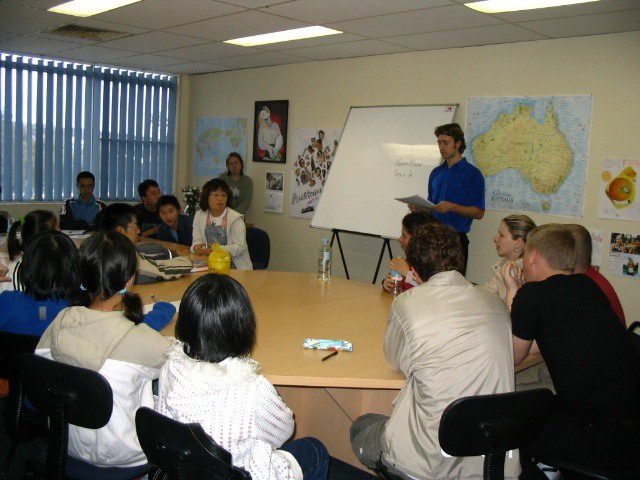 Baz Teaching in Oz (Australia).