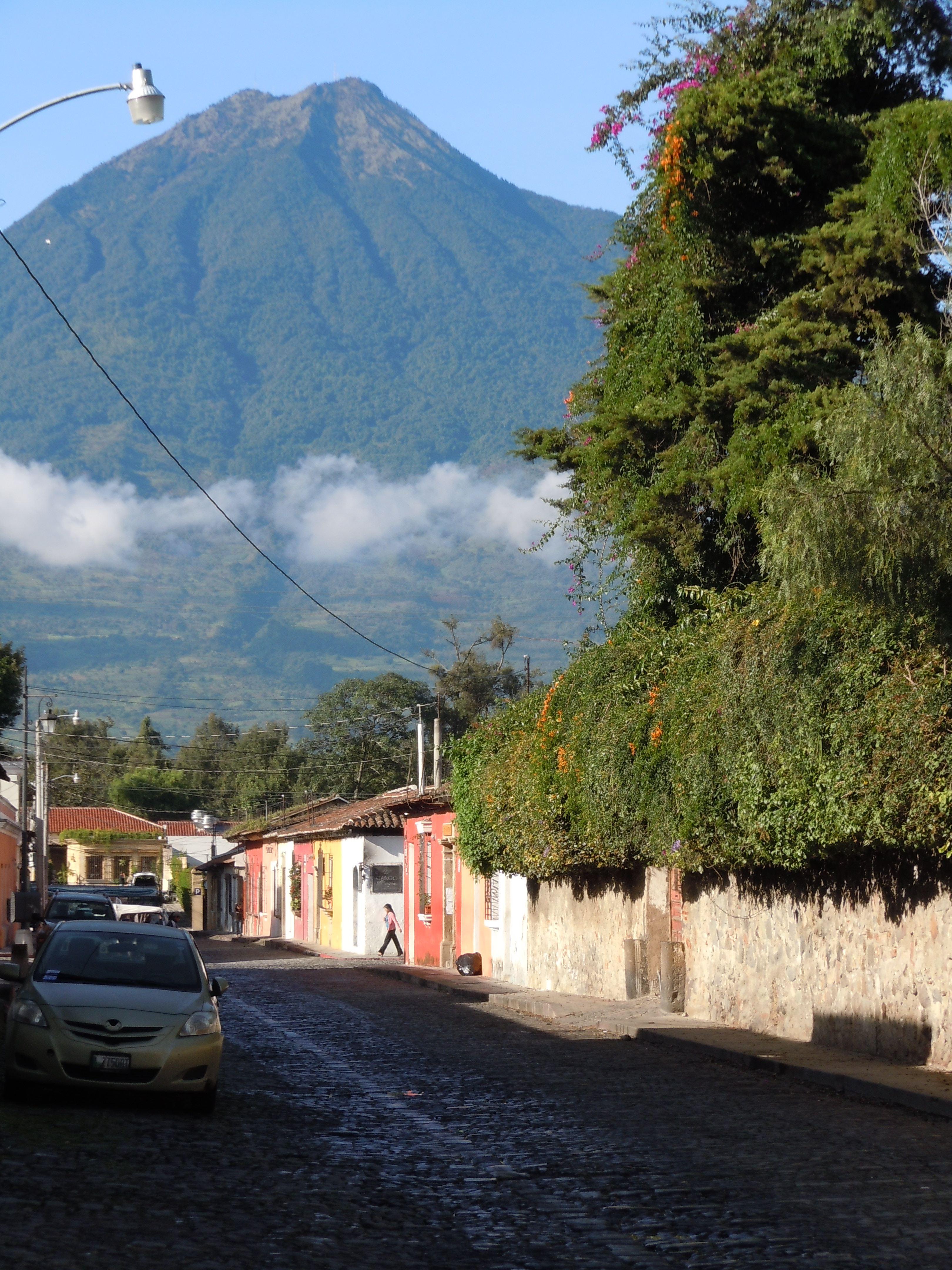 Beautiful Antigua, Guatemala, a hub for Spanish schools.