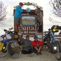 The Vogel family after biking from Alaska to Argentina!