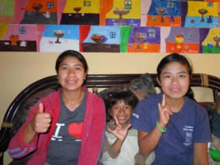 Kate's Guatemala friends, Rosa, Ale, and Laura at LAVOS.