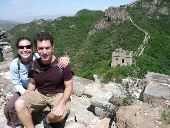 Lisa and George at the Great Wall of China.