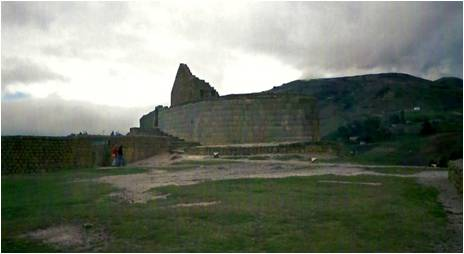 Mysterious Incan ruins in Ecuador.