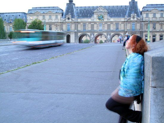 Whitney, chilling on a Parisian bridge in 2011.
