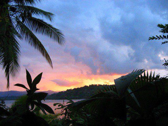 Sunrise over Drake Bay, Costa Rica. Beautiful!