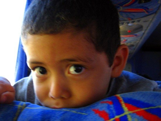 One of the sweet locals Tim met on the Costa Rican Tica Bus.