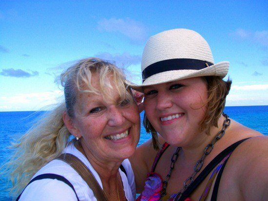 Lindsey and her mother at Fort Saint Catherine in St. George, Bermuda.