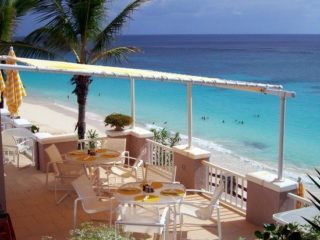 A gorgeous view for an afternoon lunch at Coral Beach, Paget, Bermuda.