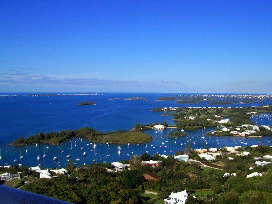 "Bermuda is known for it's beautiful gardens. The structure in picture is called a ""moongate"" which are all over Bermuda."