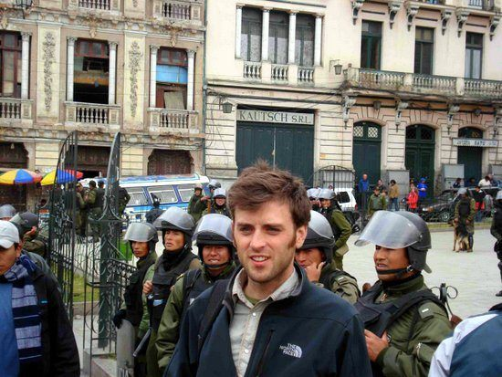 Chris at The March for Indigenous Rights in La Paz, Bolivia.