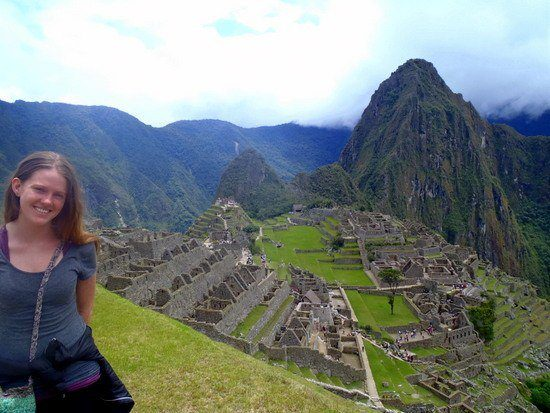 "Chelsea ""Livin' the dream"" in Machu Picchu, Peru."