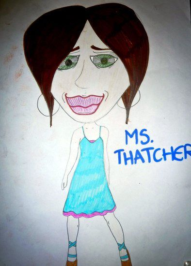A student's caricature of Elaine!
