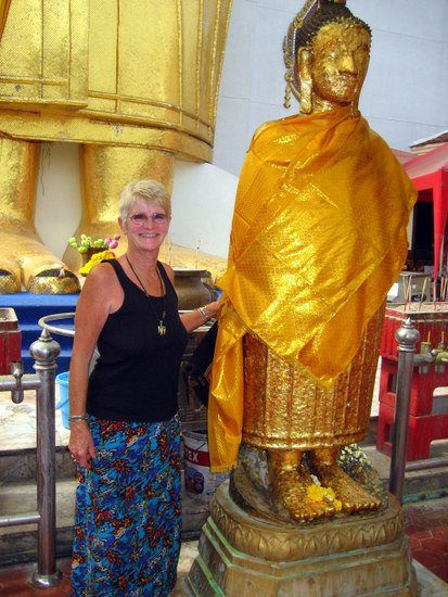 Donna saw this giant Buddha in Thailand. Where will YOU go?