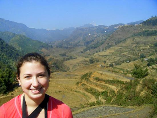 The view of rice terraces in Sapa, Vietnam.