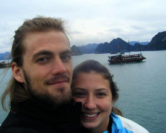 Alyssa and her boyfriend at one of the seven new national wonders of the world: Halong Bay, Vietnam.