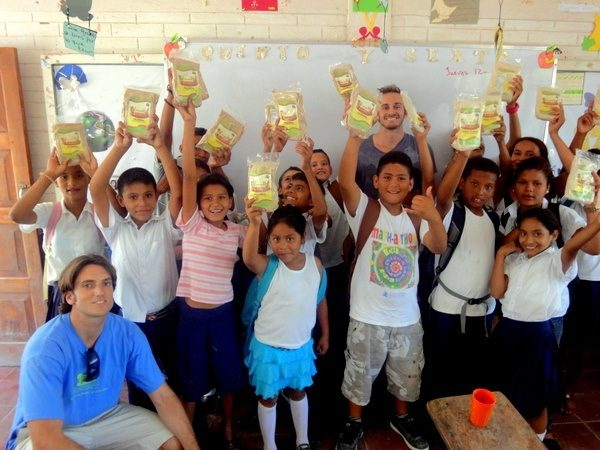 Would you like to volunteer at a health clinic in Nicaragua as Ben did? Here he is giving Tom's Shoes to children near Las Salinas.