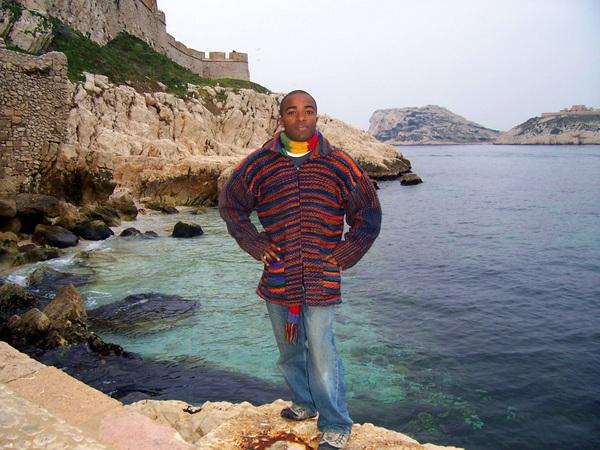 Rashaad on the island of If, near Marseille.