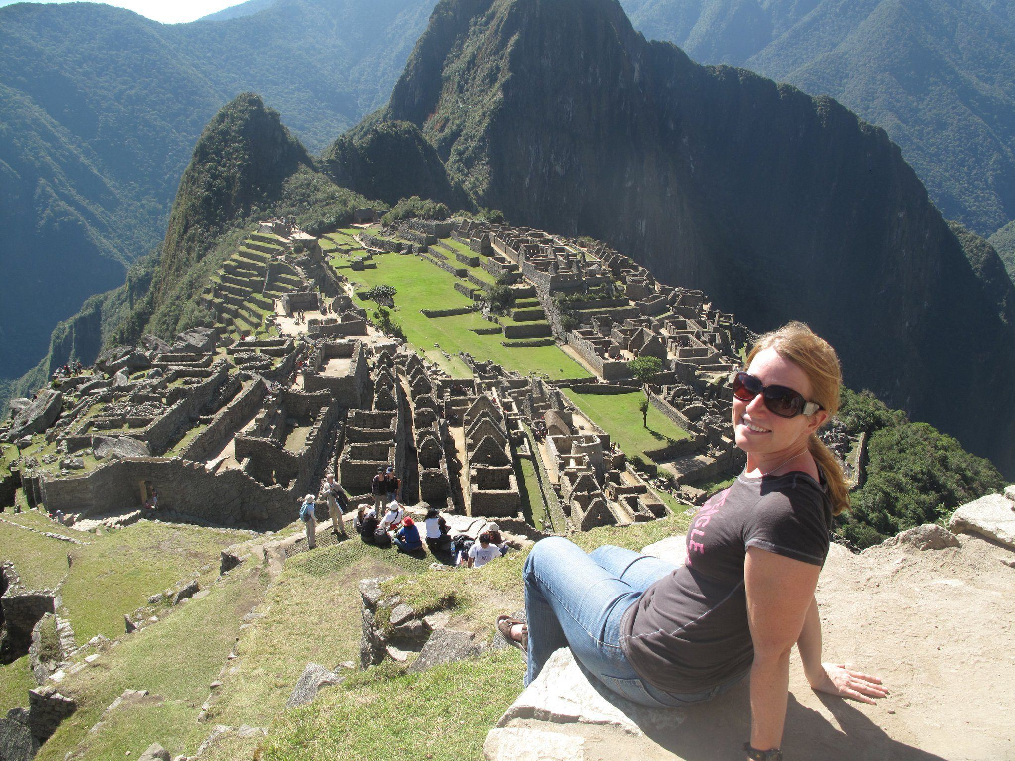 Sarah at Machu Pichu with a Global Journeys group.
