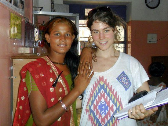 Charlie on her volunteer holiday in Goa, India.
