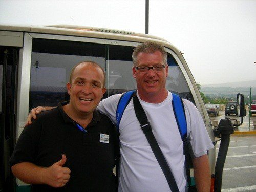 "Scott with his ""Awesome EF tour guide!"" for his Costa Rica travel."