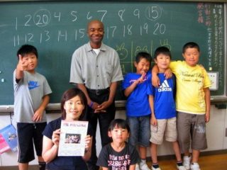 Rashaad and some of his students in Tsuruoka, Japan.