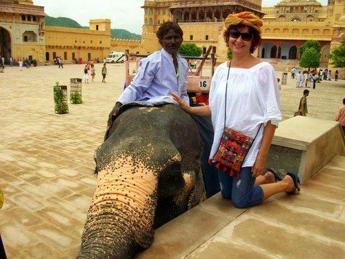 With an elephant friend in Rajasthan travel.