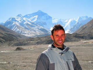 Rory at his arrival to Everest Base Camp in Tibet.