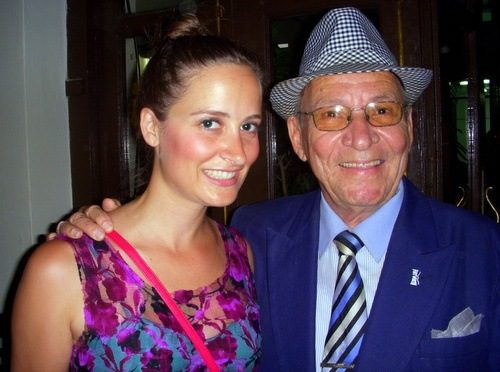Sarah with a member of the Buena Vista Social Club!