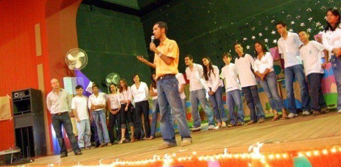 Daniel and Kurt Introduce Performances at their School in Brazil.