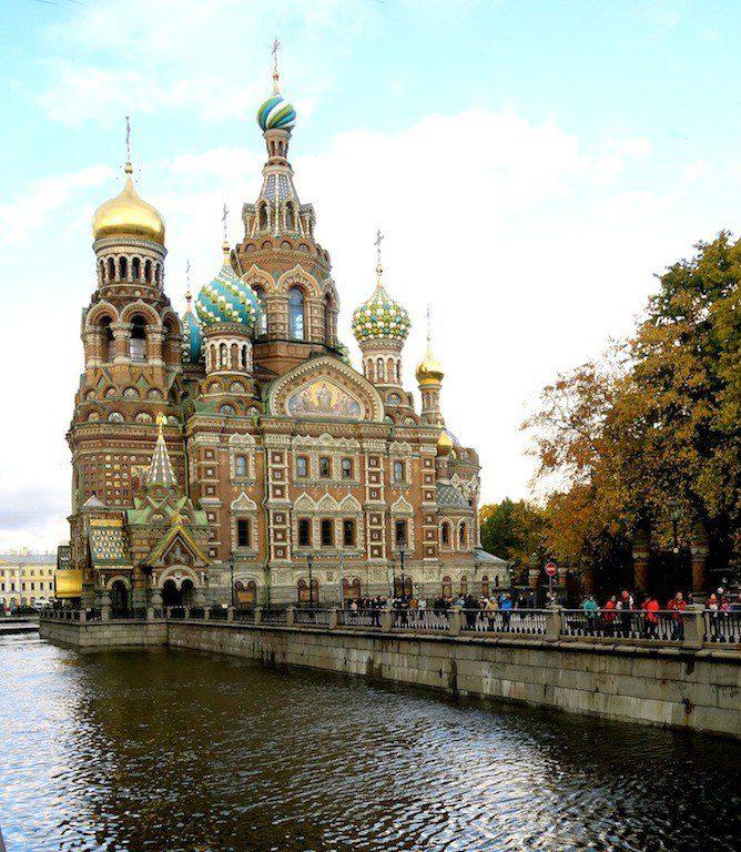 Traveling in St. Petersburg, Russia.