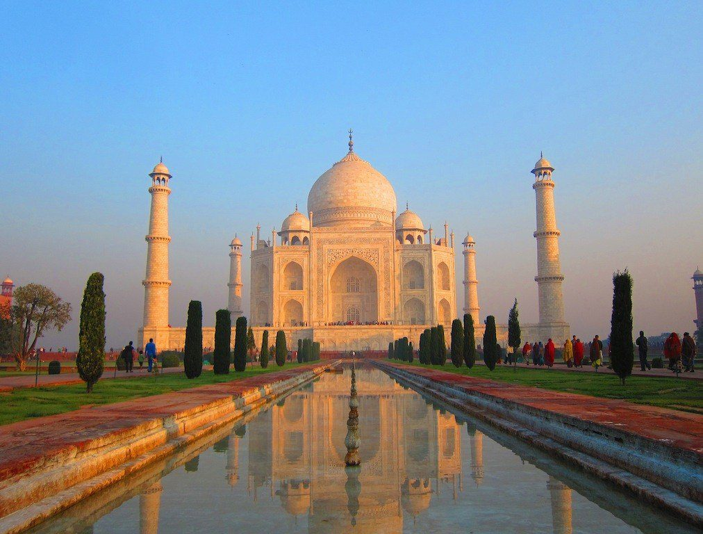 Rory's view when visiting the Taj Mahal in Agra, India. Would this be worth leaving a career for a time?