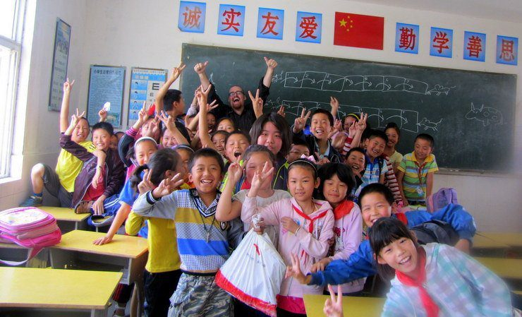 Chris's super happy classroom in China!