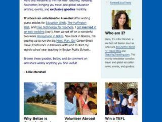 A peek at the August Teaching Traveling e-Newsletter!