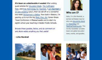 Get Teaching Traveling Monthly e-Newsletter: Don't Miss Out!