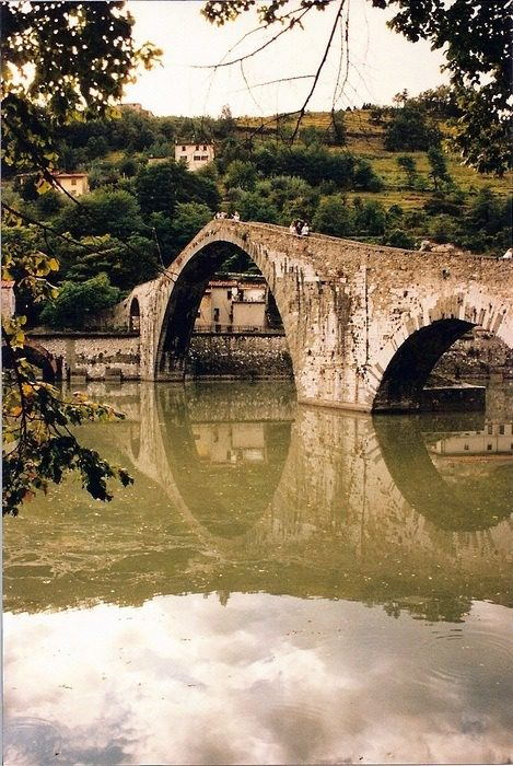Devil's Bridge in Lucca. This photo graced the cover of an earlier book by Jacqueline.
