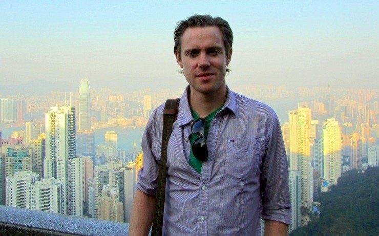 Greg, during a visit to Victoria Peak in Hong Kong in 2010.