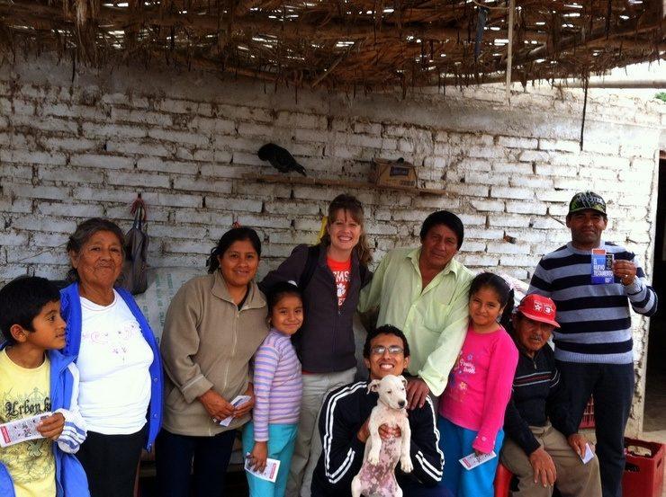 Happy friends in Peru.