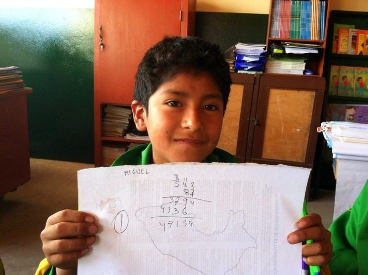 What a sweet Peruvian student!