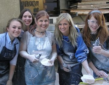 Anita with some of her high school art students.
