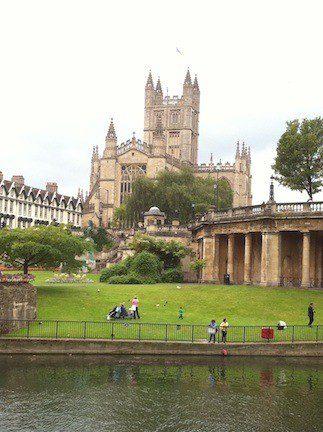 Bath Abbey, England, during Anita's free trip!