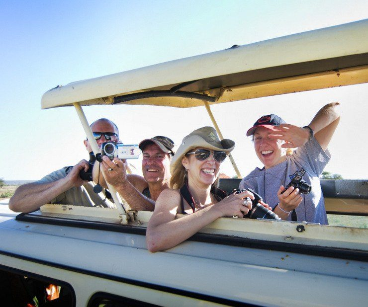 Steve getting great pictures with PhotoFly Travel Club on Safari in Kenya!